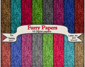 Digital Furry Papers - Printable Fur Backgrounds for your Crafting Projects, Scrapbooking & More Instant Download