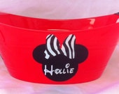 Mickey or Minnie Mouse Bucket, Mickey Mouse Pale, Mickey Mouse Tub, Party Favor, Minnie Mouse favor