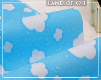Waterproof Fabric Clouds on Blue By the Yard 30365