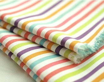 "Oxford Cotton Colorful Rainbow Stripes per Yard (44 x 36"") 36734 - 213"
