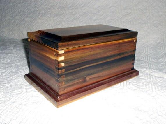 Wooden Keepsake Box - A Rainbow Poplar Keepsake Box