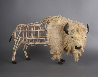 American Buffalo/Bison Model moquette sculpture