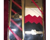 Vintage 1960 Tie Ensemble Pennleigh skinny tie gift set. Mad Men style  Never opened