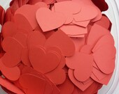 100 Pieces Heart confetti 1.5 in scrapbook embellishment die cut red heart party table decor WEDDINGS Made to Order