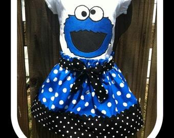 Cookie Monster Skirt Set