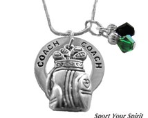 Personalized, Golf Necklace,Team Colors,Swarovski Necklace,Golf Jewelry,Golf Gift,Golf Coach,Team Gift, Golf Mom,Golf Charm, (Made to Order)