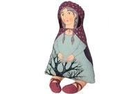 little red hood. painted art doll - soft sculpture