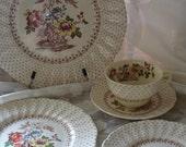 Vintage 5 piece place setting Royal Doulton Grantham D5477 Pattern