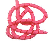 "Korker Ribbon - HOT PINK - 2 Yards - 3/8"" Grosgrain"