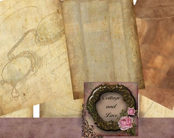 Digital  Backgrounds,  Scrapbook paper, Vintage Grunge Paper,  Grungy Printable Papers      No. 718