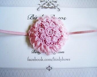 Pink Flower Headband, Baby Headbands, Newborn Headbands, Infant Headbands, Baby Girl Bow, Infant Hair Bow,