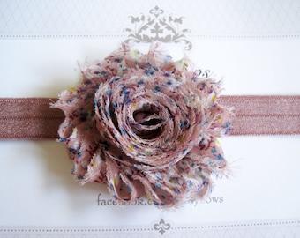 Mauve Flower Headband, Baby Headbands, Newborn Headbands, Infant Headbands, Baby Girl Bow, Infant Hair Bow,