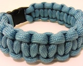 Survival Bracelet made from 550lb breaking strain Pale Blue Paracord