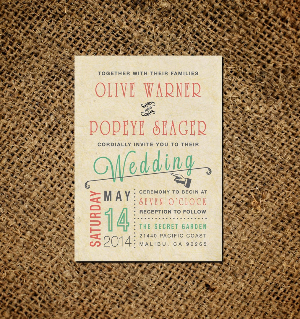 Wedding Invitations Old Fashioned: Vintage Wedding Invitation