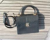 CM leather bag elegant circa 1970's free shipping