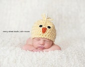 Spring Chick hat beanie crochet newborn photography prop yellow baby girl boy