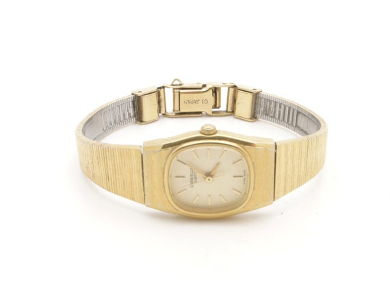 Small Vintage Gold Womens Watch, Non Working, Retro