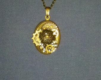 Gold Steam Punk Locket