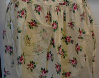 Vintage Yellow Ruffled Apron  ECS
