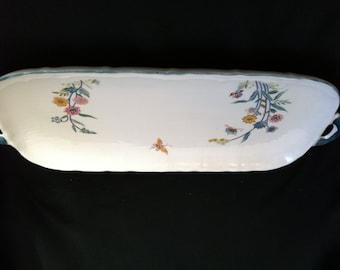 Andrea by SADEK JARDIN Romantic Pattern with Butterfly & Floral Sandwich Tray Platter