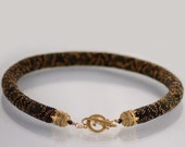 """Bead Crochet Necklace """" Python pt.2"""" Black  Bronze  patina  Super gift for Chinene New Year  Jewelry  Beadwork  Made to order"""