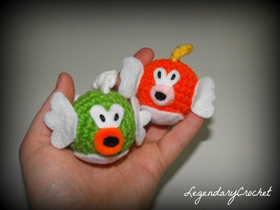 Cat Toys - Mario Cheep Cheep and Deep Cheep catnip toys