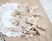 Itty Bitty German Glass Glitter Clothespins - Set of 24