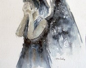 """Doctor Who """"Weeping Angel""""  Fine Art Print of my original illustration in various sizes"""