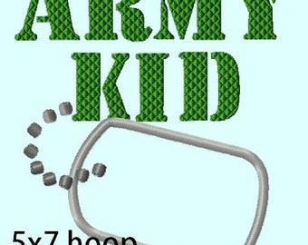 Army Kid Badge APPLIQUE Embroidery Design  INSTANT DOWNLOAD