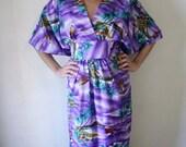 CLEARANCE Paradise Dress Handmade OOAK Genuine Hawaiian Kimono-Style