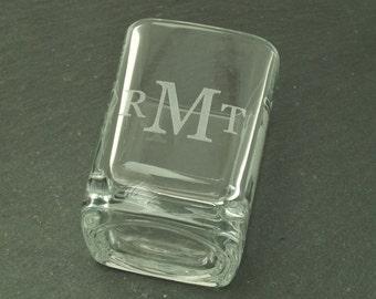Monogrammed Shot Glass for Groomsmen Gifts