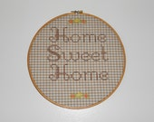 Free Shipping Vintage Home Sweet Home Embroidery Hoop