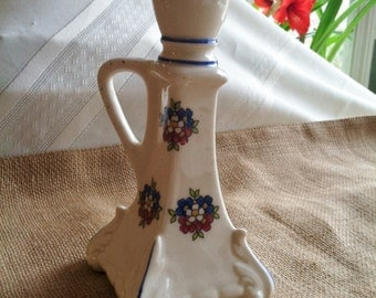 So Sweet Antique Czechoslovakia Pottery Candle Holder