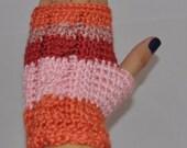 RESERVED LISTING    Fingerless Gloves in Melon Berry Sherbet