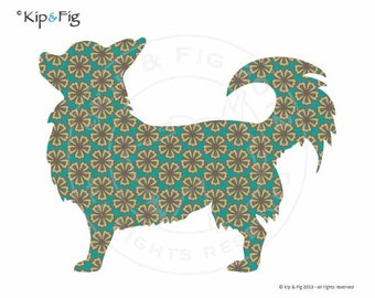 Chihuahua applique template - PDF applique pattern