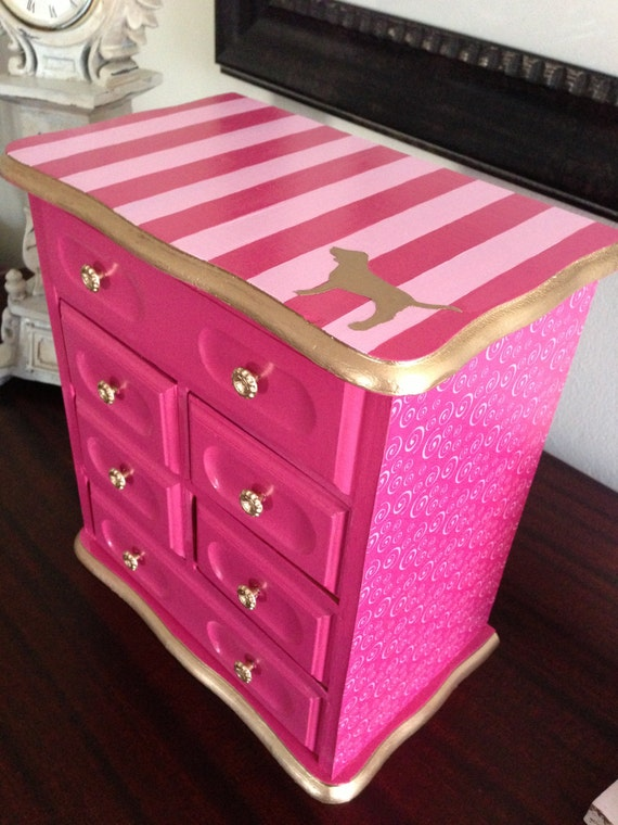 Reserved Vintage Jewelry Box Upcycled To Victoria S
