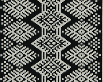 Black Ikat Upholstery Fabric Black And White Fabric By The Yard Heavy Duty Furniture