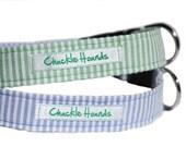 Seersucker Dog Collar