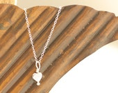 Dainty Sterling Silver Heart Necklace