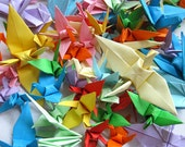 15 x 15cm 1000 pcs pure 10 colors Origami Paper Cranes crafts paper goods for Wedding, Christmas, Festival, Anniversary