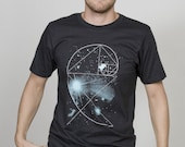 "Organic T-Shirt Men Black ""Birdy of the Universe"""