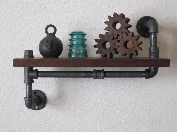 The ORIGINAL - Single Walnut Pipe shelf