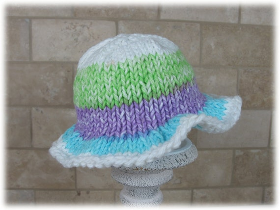 Knitting Pattern For Baby Sun Hat : Items similar to PATTERN, Baby Hat, Knitted Baby Hat, Floppy Hat, Baby Floppy...