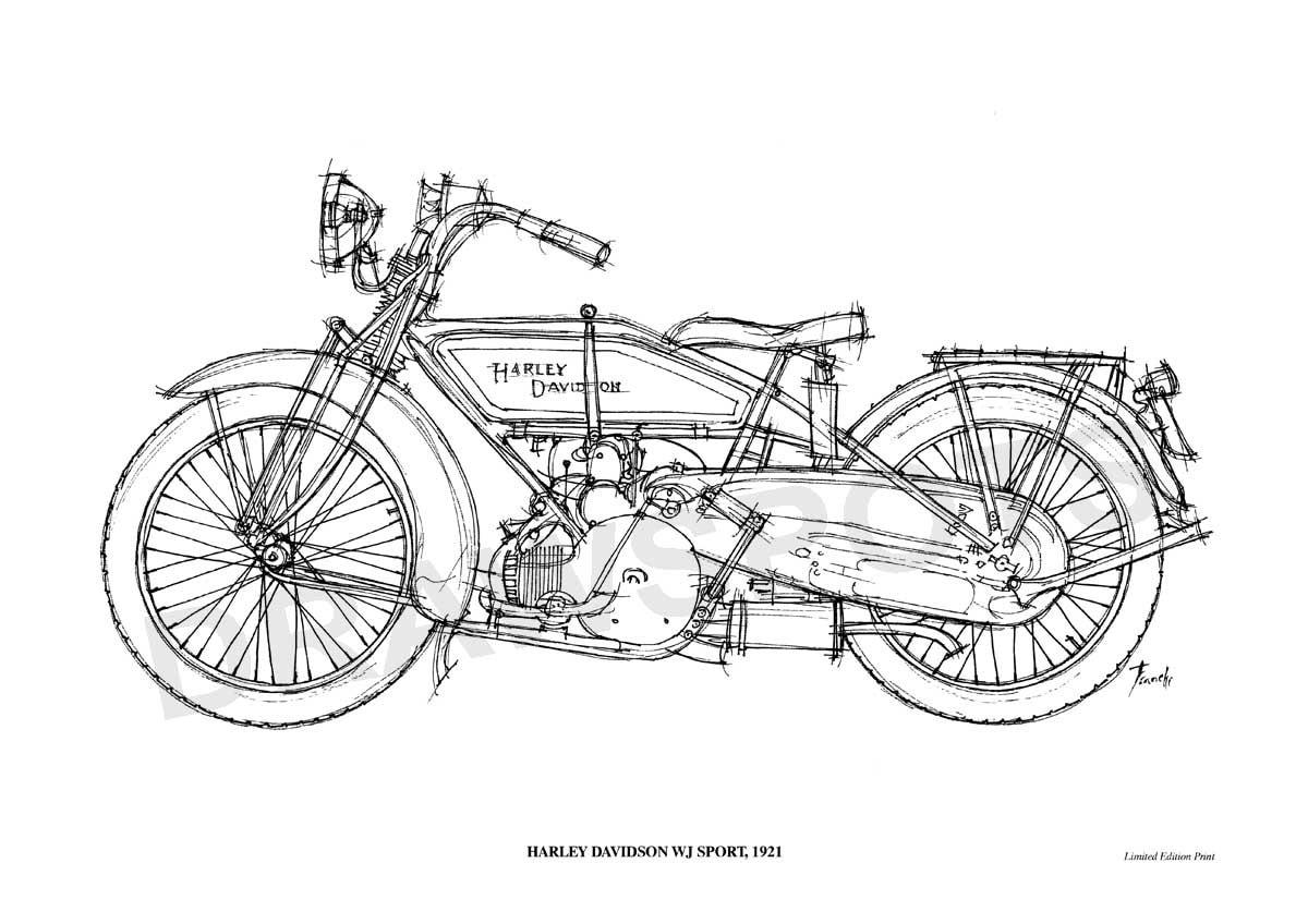 Harley Parts Drawings