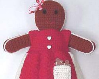 Gingerbread CROCHET PATTERN Bag Holder Kitchen Home Decor