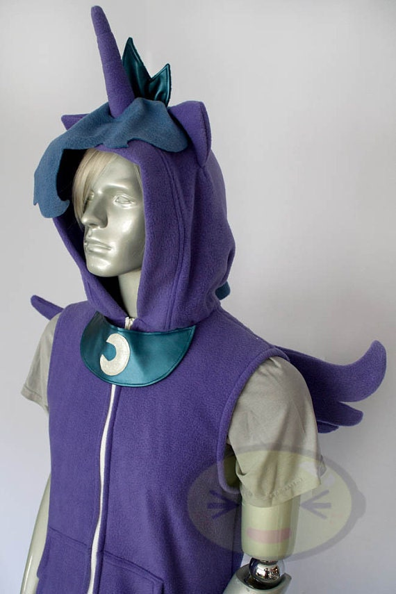 Princess Luna Pony Vest Costume Hoodie Vest Jacket