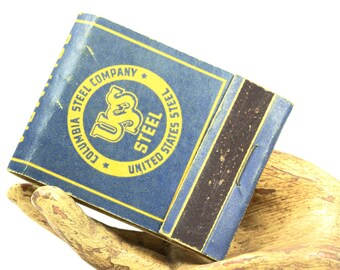 Columbia Steel Company United States Steel Book Of Matches Matchbook