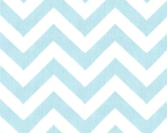 Blue Mist & White Chevron Table Runner
