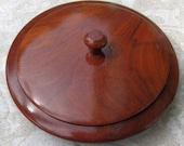 Myrtle Wood Bowl with lid Handmade Vintage Box Desk Accessory