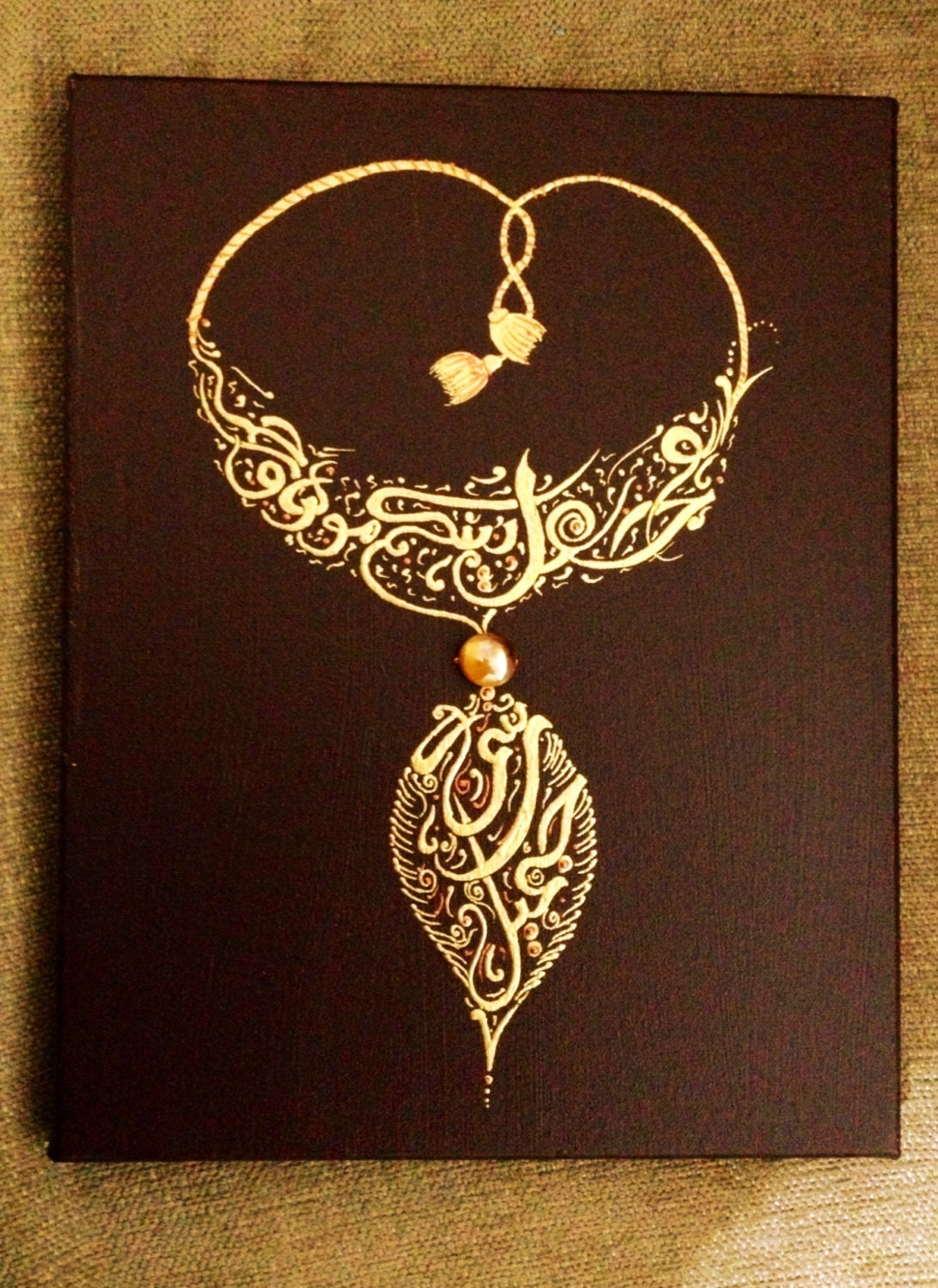 Personalized Arabic Calligraphy Necklace By Calligraphyqalam